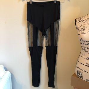 Pants - NWOT Boutique Black Mesh Leggings Sexy • SMALL